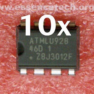 10x ATMEL 93C46 93C46D Three-wire Serial EEPROM 1K