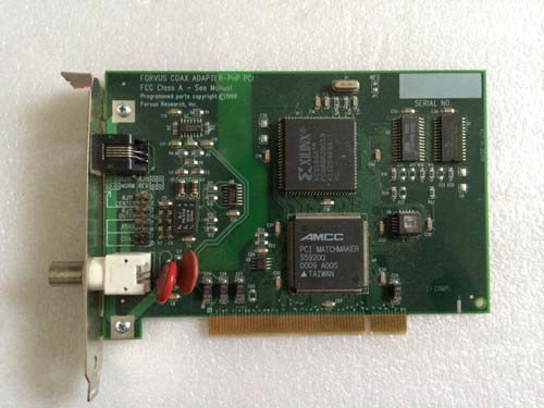 FORVUS COAX ADAPTER-PnP PCI FCC Class A-See Manual