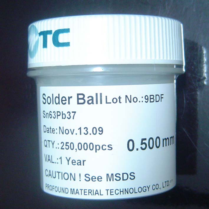250k 0.50mm BGA Solder Balls Lead