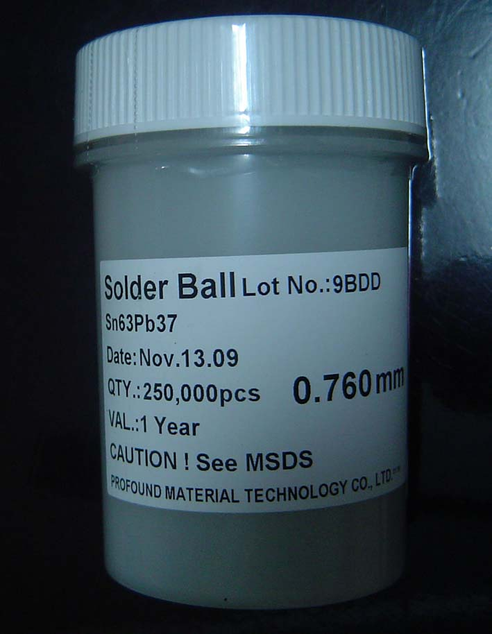 250k 0.76mm BGA Solder Balls Lead